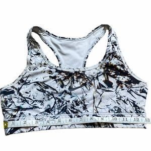 Woman's Nike Dri-Fit White Black  Sports Bra XS